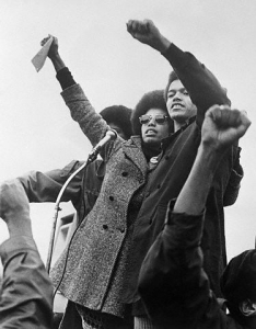 Activists Giving Black Power Salute