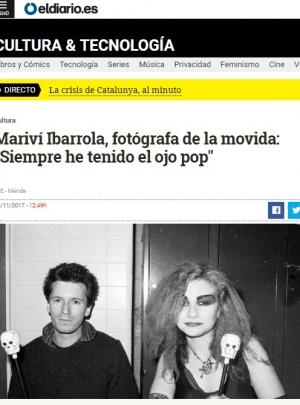 """Mariví Ibarrola, fotógrafa de la movida: """"Siempre he tenido el ojo pop"""""""