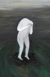 Figura Blanca - Javier Lozano - 42x26cm acuarela sobre papel